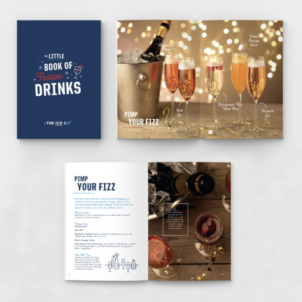 Ice Co christmas brochure with recipes, interviews and other useful material